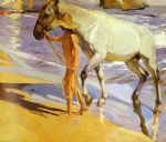 joaquin sorolla y bastida el bano del caballo [the horse s bath] paintings 78604
